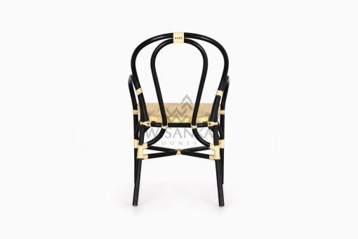 Viana Rattan Wicker Bistro Chair rear