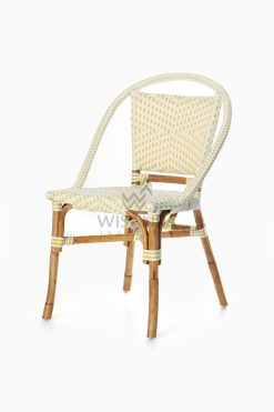 Elle Bistro Chair - Wicker Dining Chair perspective