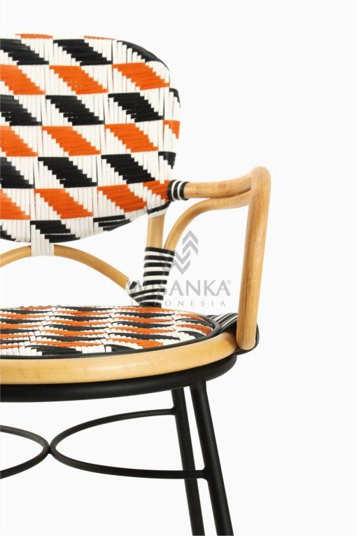 Kiku Rattan Outdoor Bistro Chair Detail 1