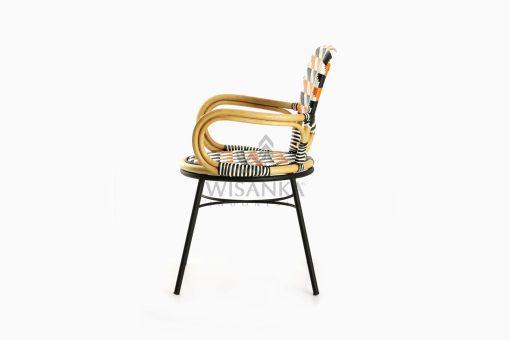Kiku Rattan Outdoor Bistro Chair side