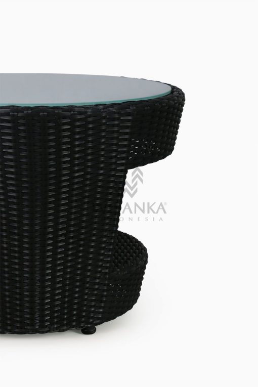 Patio Furniture Outdoor Rattan Table C With Glass Detail 1