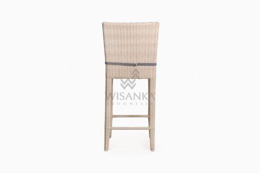 Victoria Bar Chair with Seat Cushion outdoor rattan furniture rear