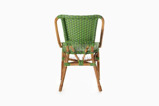 Yori Outdoor Rattan Bistro Chair rear