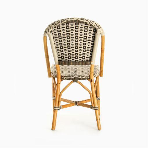 Hannah Bistro Chair - Outdoor Rattan Patio Furniture rear