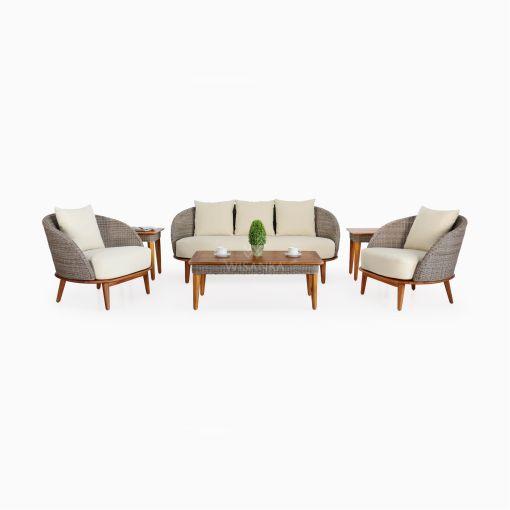 Malvin Living Set - Outdoor Rattan Garden Furniture