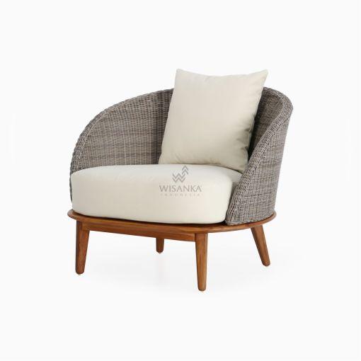 Malvin Living Sofa 1 Seater - Outdoor Rattan Garden Furniture