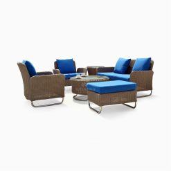 Chalta Living Set - Brown Patio Rattan Furniture Outdoor