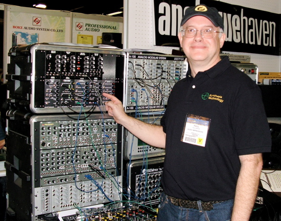Modular synthesizer Synthesis Technology MOTM synthesizer Paul Schreiber