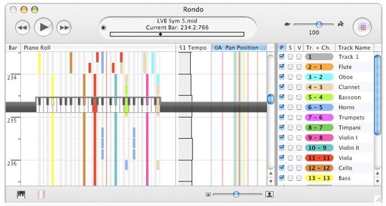 Rondo Mac MIDI player