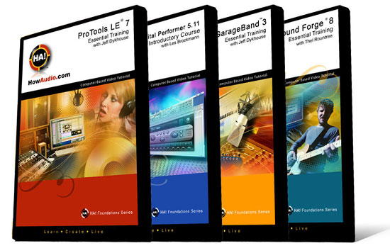 HowAudio.com Debuts First Four How-To DVD Titles for Pro Tools LE, SoundForge 8, GarageBand, & Digital Performer
