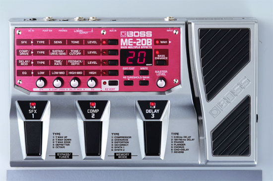 Boss ME 20b bass effects pedal