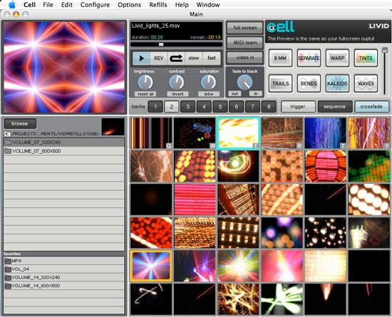 Livid Cell VJ Software