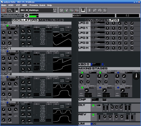 Helix free synthesizer