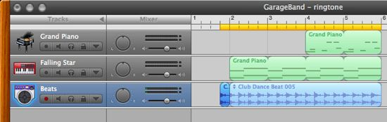 Select Some Audio In Garageband