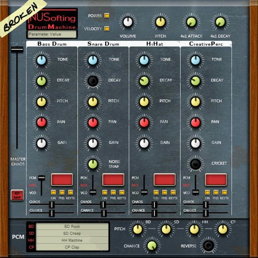 NUSofting BDM Drum Synthesizer