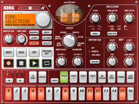iElectribe iPad drum machine