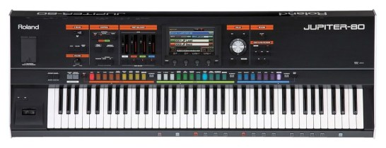 The Roland Jupiter 80 synthesizer