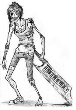 zombie with a keytar