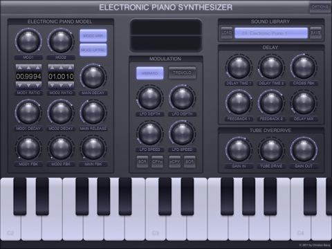 electronic piano synthesizer