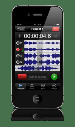 Firestudio multitrack recorder for iPhone