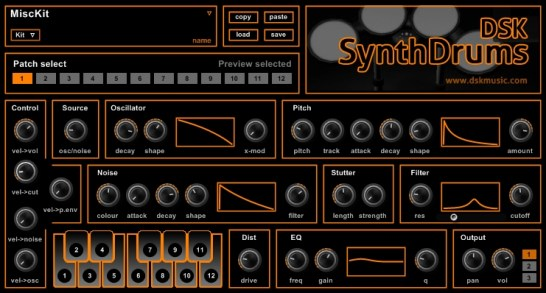 Free synth drums plugin