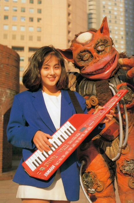 Caption This - The keytar babe + Japanese Monster edition