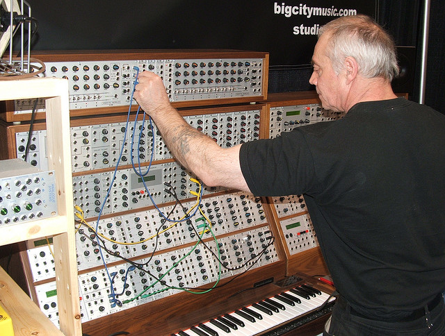 Patching a modular synthesizer