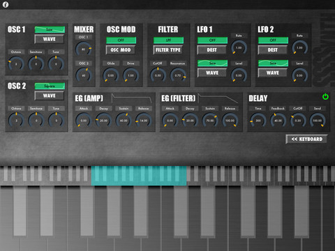 free software synthesizer for iPad, iPhone