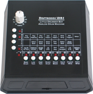 the delptronics little drummer boy ldb 1 analog drum machine synthtopia. Black Bedroom Furniture Sets. Home Design Ideas