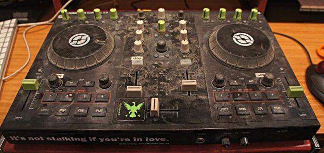 DJ gear after Burning Man