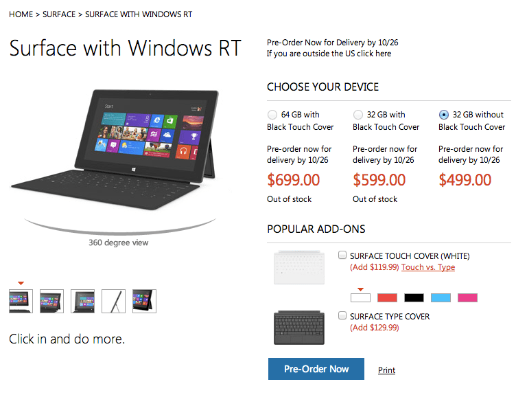 surface tablets with windows rt to start at 499 leak. Black Bedroom Furniture Sets. Home Design Ideas