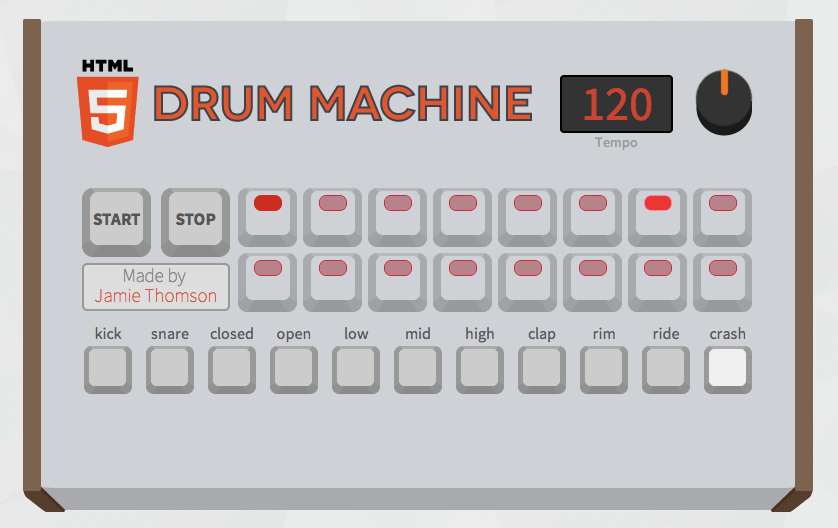 html 5 drum machine turns your browser into a virtual instrument synthtopia. Black Bedroom Furniture Sets. Home Design Ideas