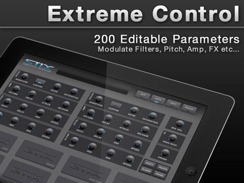 stix sampling drum machine for ipad synthtopia. Black Bedroom Furniture Sets. Home Design Ideas