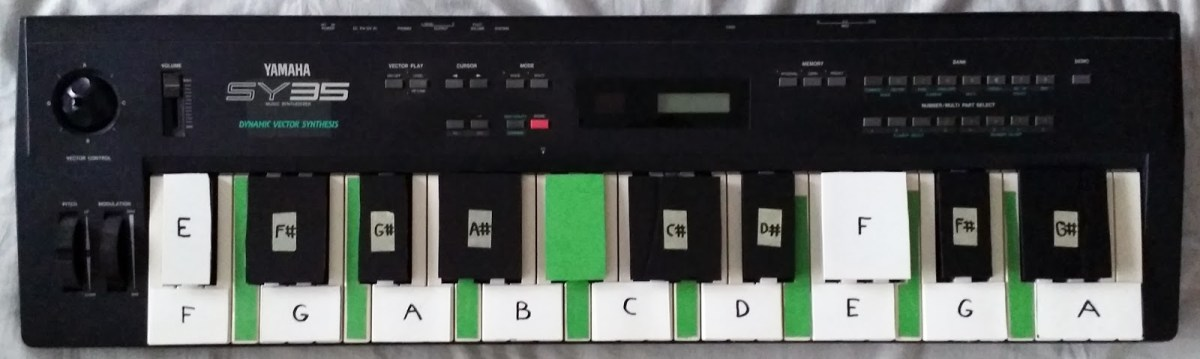 turn a junk keyboard into bass pedals synth diy project synthtopia. Black Bedroom Furniture Sets. Home Design Ideas