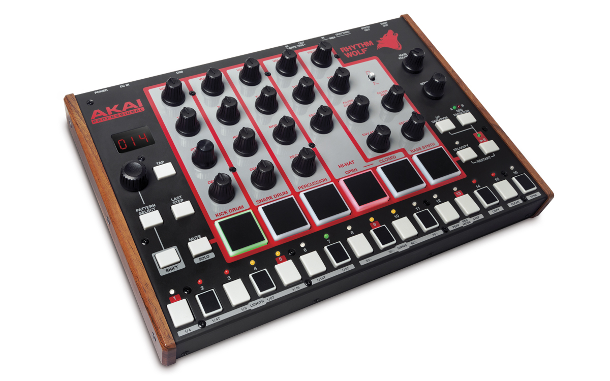 akai pro debuts rhythm wolf drum machine bass synth with howl synthtopia. Black Bedroom Furniture Sets. Home Design Ideas