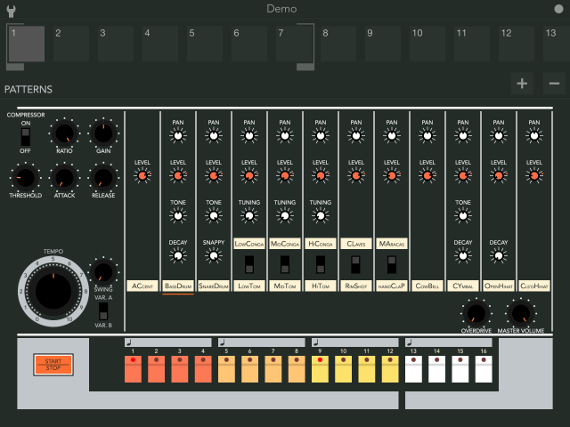 boom 808 a virtual tr 808 for the ipad synthtopia. Black Bedroom Furniture Sets. Home Design Ideas