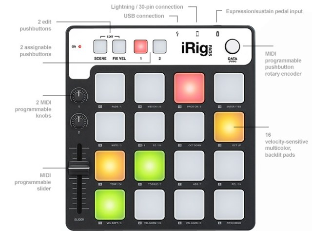 irig-pads-midi-controller-features