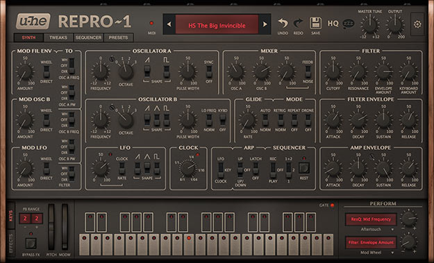 U-He Intros Repro-1, A Virtual Sequential Pro-One – Synthtopia