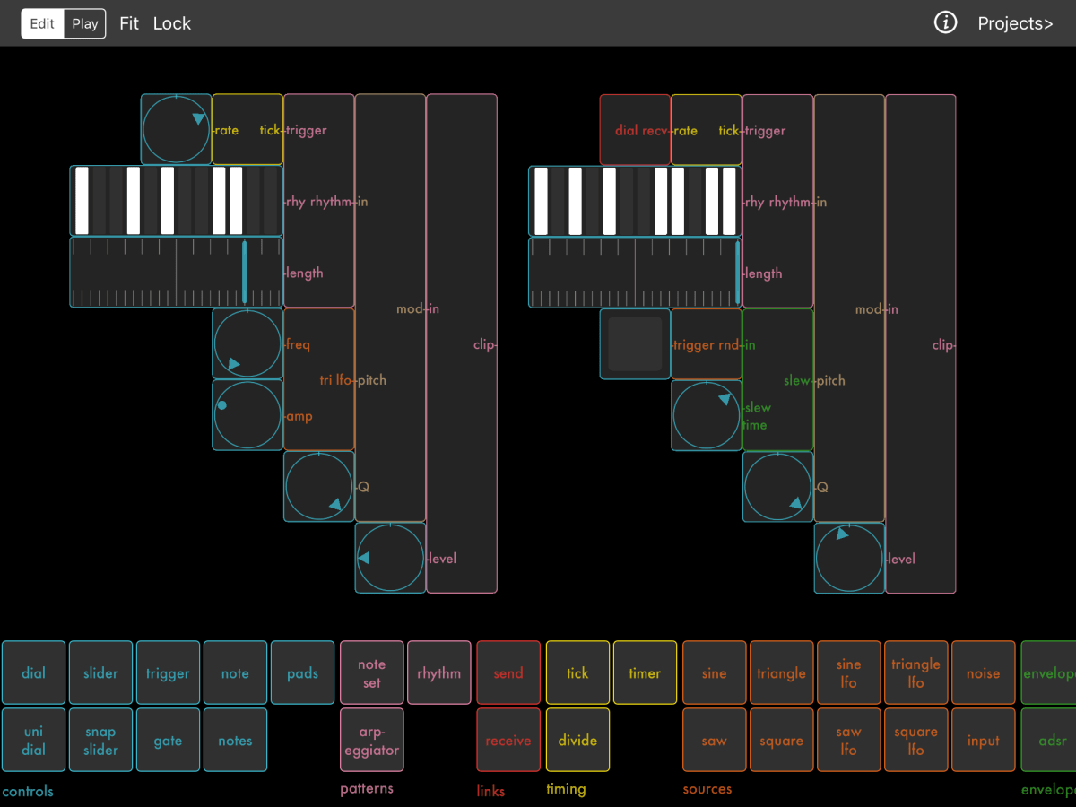 new modular synth app for ios ops synthtopia. Black Bedroom Furniture Sets. Home Design Ideas