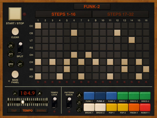 funkbox drum machine for ios updated with ableton link audiobus 3 more synthtopia. Black Bedroom Furniture Sets. Home Design Ideas