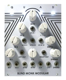 Blind Monk Modular Intros Quad Four-Channel Crossfader For