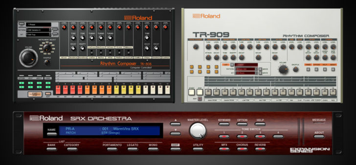 Roland Cloud Adds TR-808, TR-909 VST, AU Plugins | Synthtopia