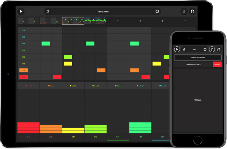 reactable updates snap drum machine app with motion control synthtopia. Black Bedroom Furniture Sets. Home Design Ideas