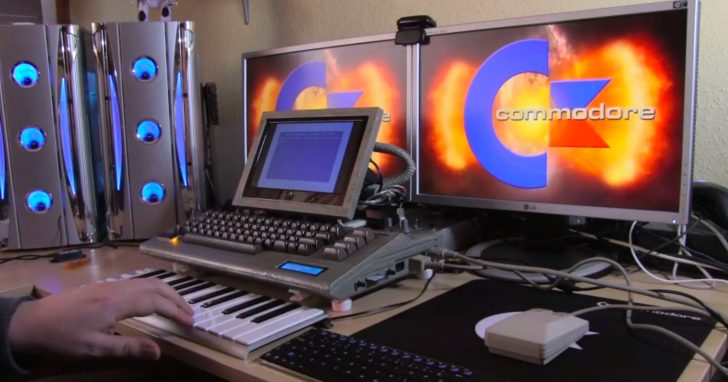 Making Music With A Commodore 64 Chiptune Music Workstation | Synthtopia