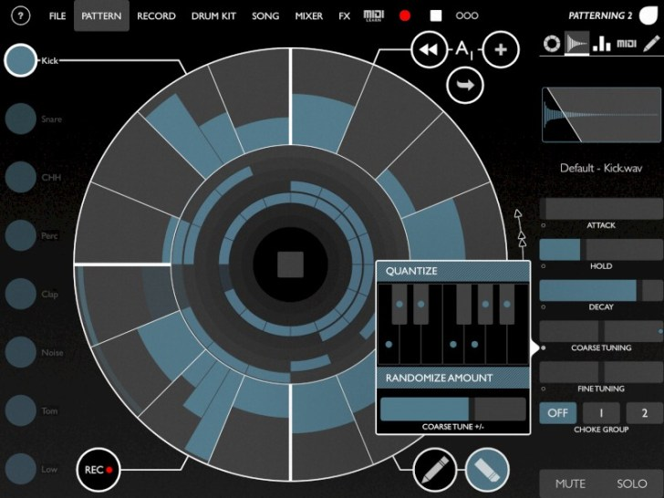 Patterning 2 Drum Machine App Now Available For iPad