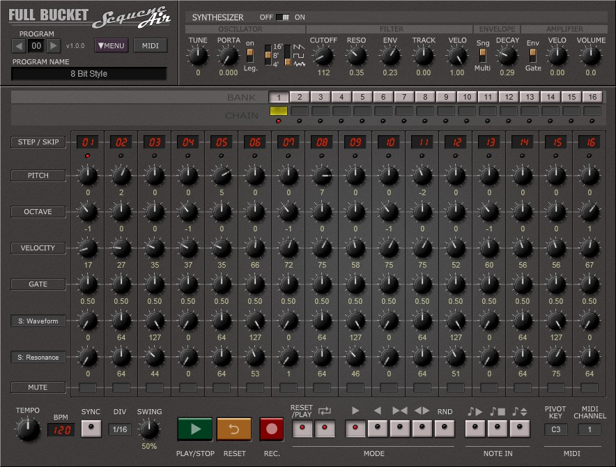 Free Sequencer & Synthesizer, SequencAir, For Mac & Windows