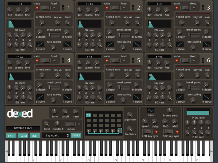 Dexed iOS FM Synthesizer Updated With 640,000 Unique Patches