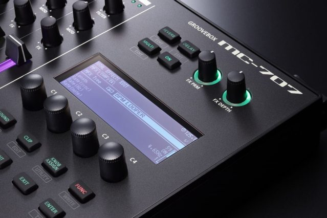 Roland-MC707-knobs-and-display-closeup