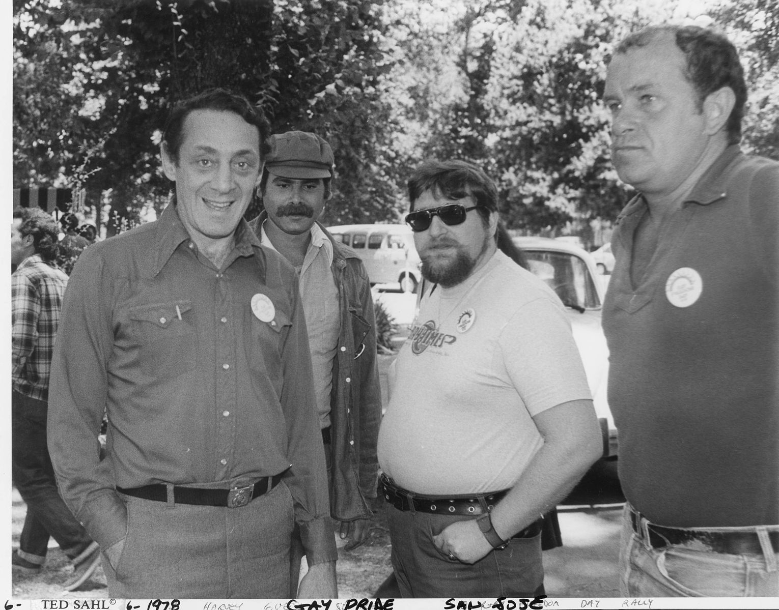 Harvey Milk circa 1978, advocating for gay and lesbian rights and building gayborhoods