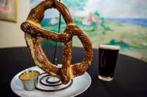 Baravian pretzel, served with choice of beer cheese or spicy mustard; paired with Smithwick's